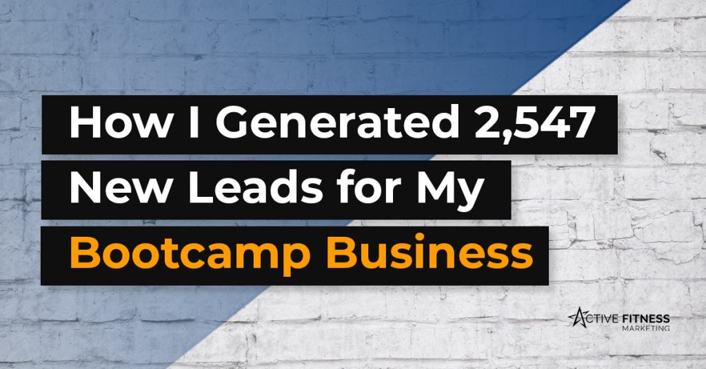 How I generated new leads