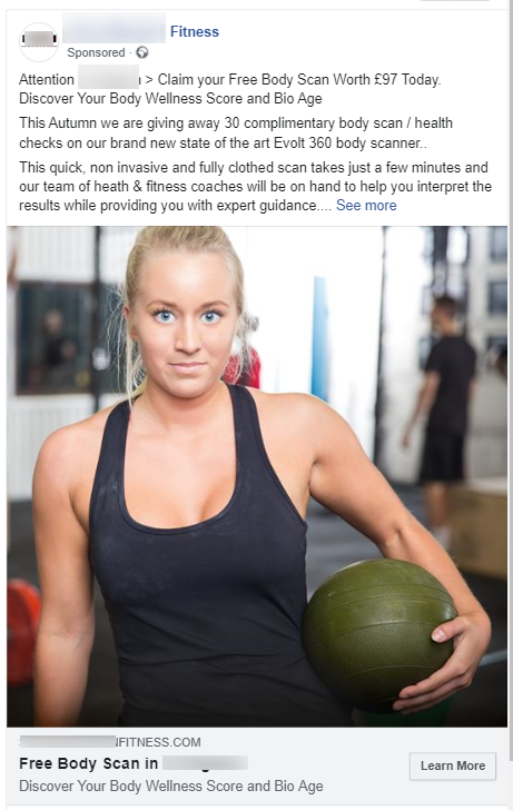 Fitness Facebook Ad