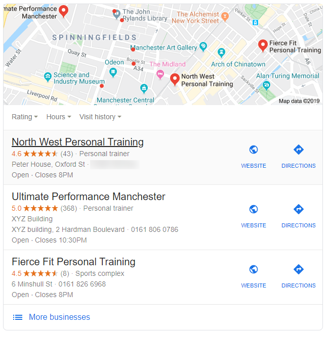 Google Local SEO for Fitness